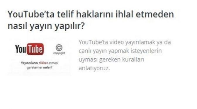 YouTube'da telif haklarını ihlal etmeden nasıl yayın yapılır?