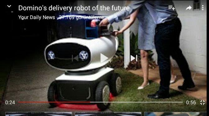 Domino's pizzanın pizza dağıtan robotu